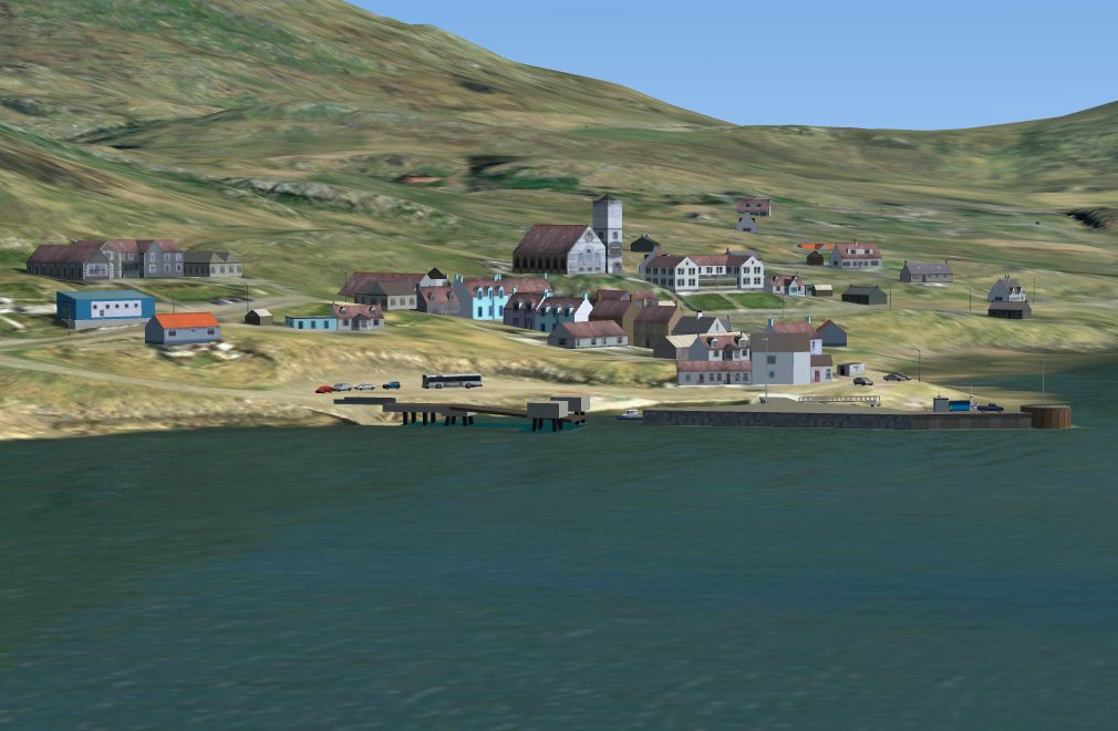 Screenshot - Castlebay, main settlement and ferry terminal on Barra