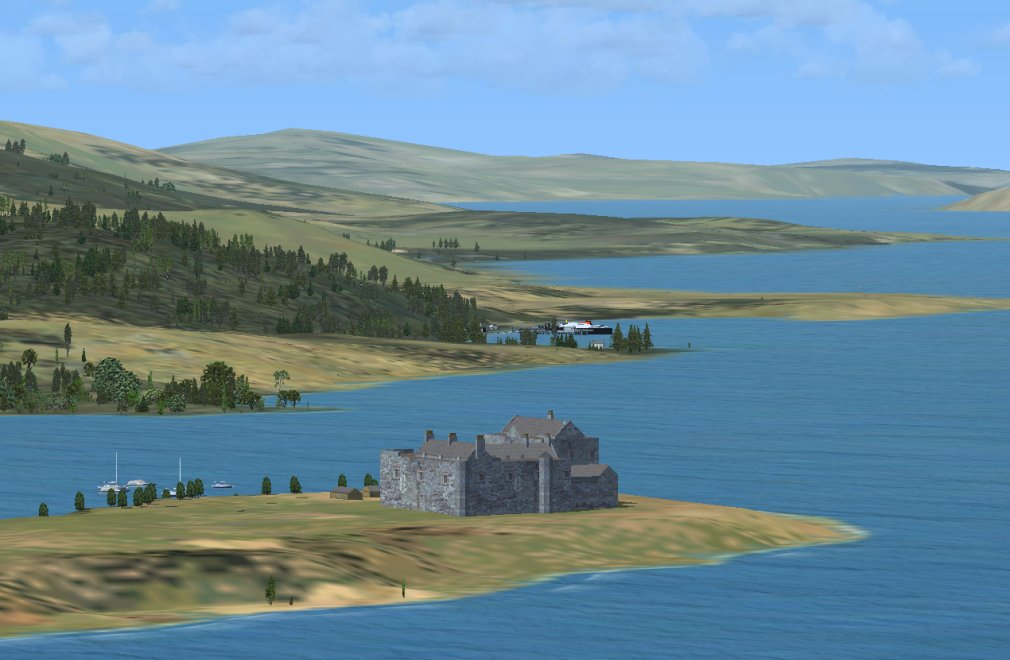 Screenshot - Duart Castle, with Craignure and the Sound of Mull